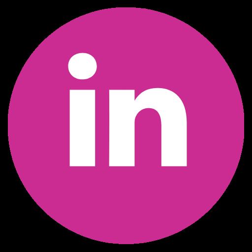 Linkedin Icon Pink